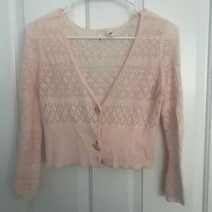 Short, Pale Pink Cardigan